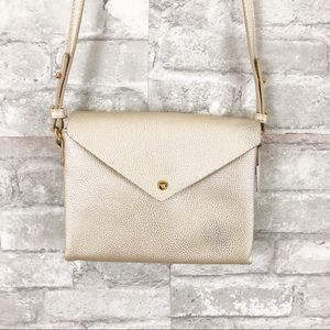 Anthropologie Street Level Gold Crossbody Purse